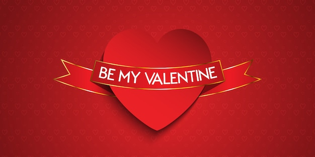 Elegante valentijnsdag banner Gratis Vector