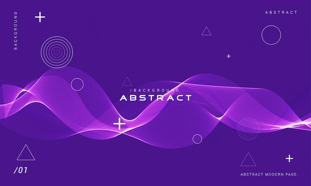 Elegante violette golfachtergrond Premium Vector