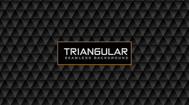 Elegante vip driehoekige patroonachtergrond met glans gouden effect Premium Vector