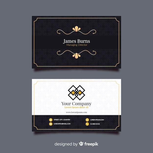Elegante visitekaartjesjabloon Gratis Vector