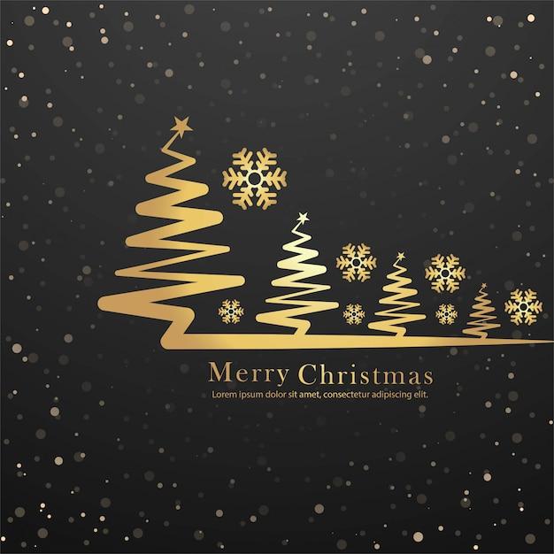 Elegante vrolijke kerstboom ontwerp vector Gratis Vector