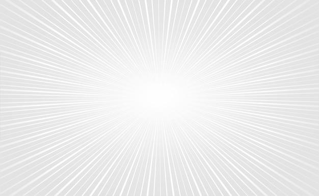 Elegante witte zoomstralen lege achtergrond Gratis Vector