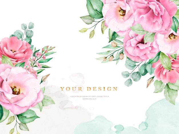 Elegante zachte bloemen bruiloft uitnodiging kaartsjabloon Gratis Vector