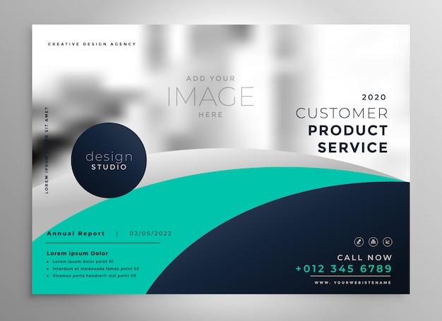 elegante zakelijke jaarverslagbrochure of presentatiesjabloon Gratis Vector