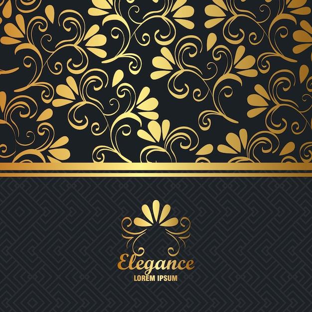 Elegantie stijl gouden achtergrond Gratis Vector