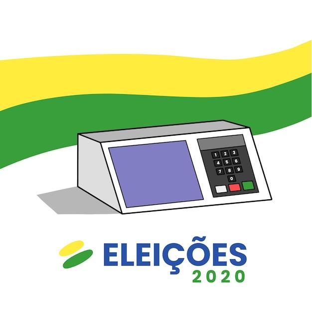 Eleições 2020 handgetekende achtergrond Premium Vector