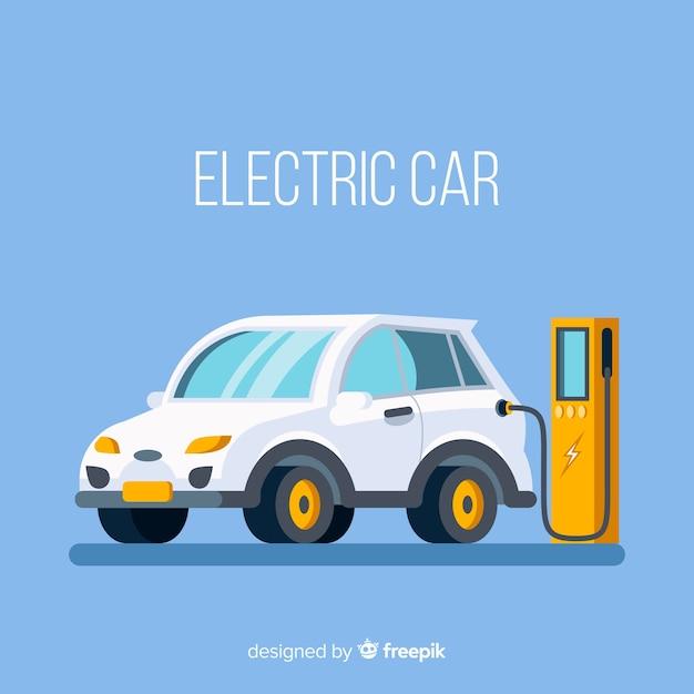 Elektrische auto Gratis Vector