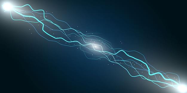 Elektrische bliksem donder Premium Vector