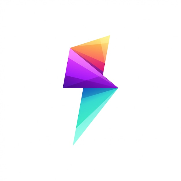 Elektrische logo ontwerp vectorillustratie Premium Vector