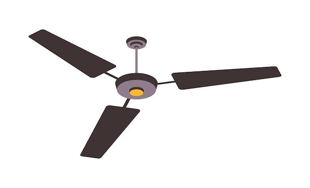 Elektrische ventilator geïsoleerd op de achtergrond. huishoudapparaten voor luchtkoeling en -conditionering, klimaatbeheersingsillustratie Premium Vector