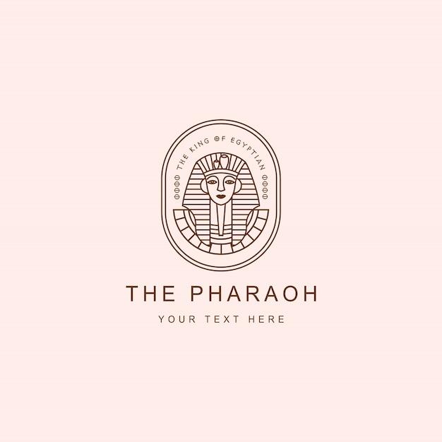 Embleem embleem farao Premium Vector