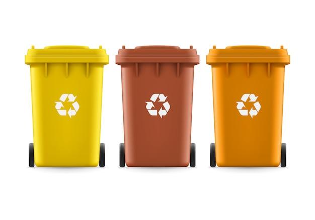 Emmers voor afval Premium Vector