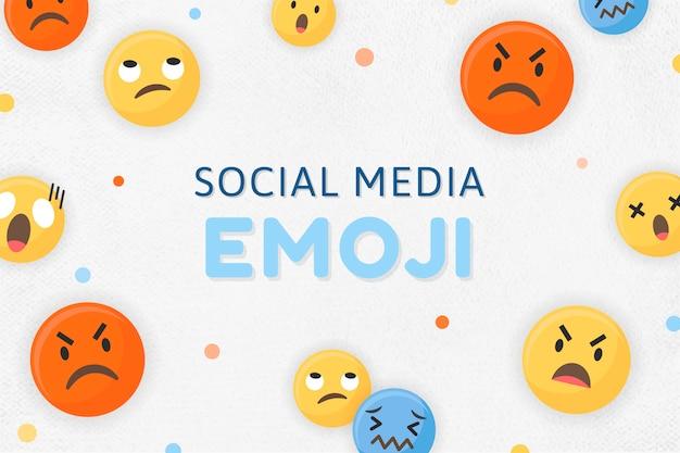 Emoji ingelijste achtergrond Gratis Vector