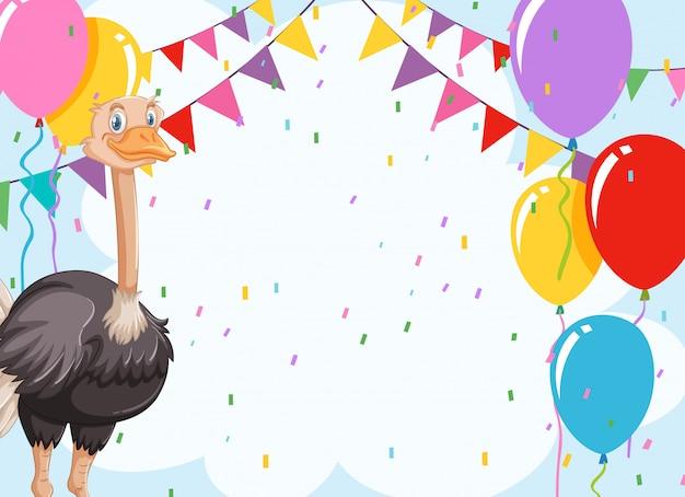 Emu viering invitiantie kaart Gratis Vector