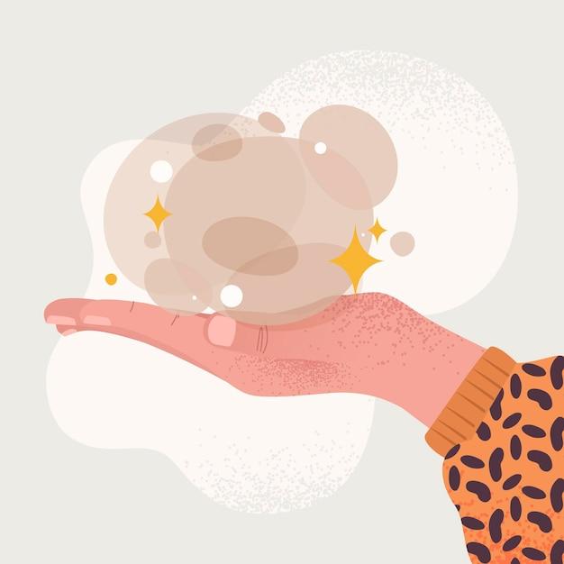 Energie genezing handen illustratie Gratis Vector