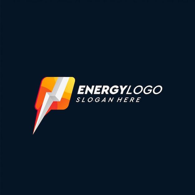 Energie logo ontwerp Premium Vector