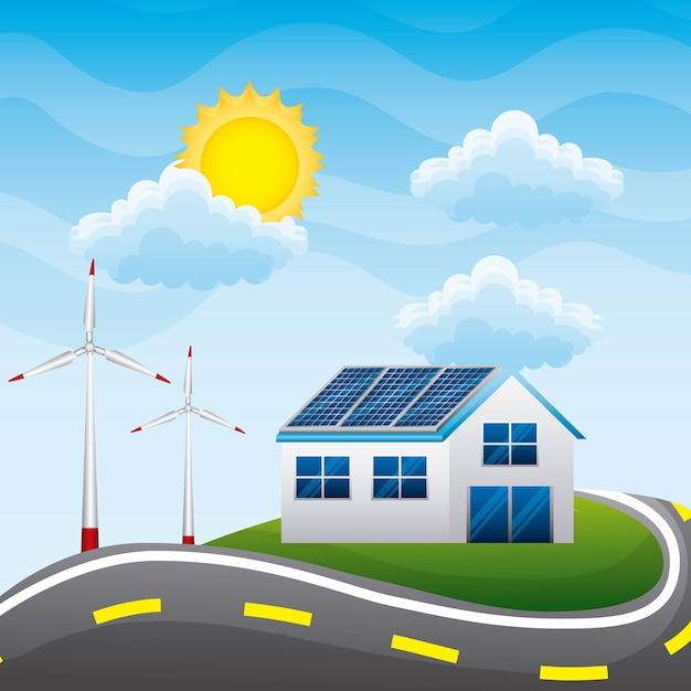 Energie schoon Premium Vector