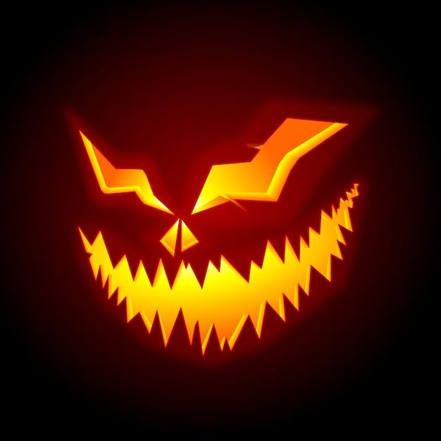 Hoe Maak Je Halloween Pompoenen.Enge Pompoen Halloween Gezicht Vector Premium Download