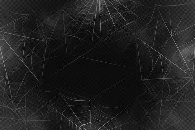 Enge spinnenwebachtergrond Premium Vector