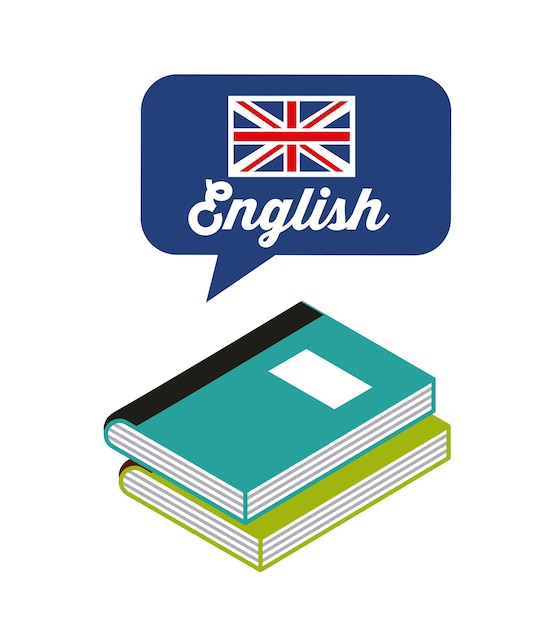 Engels studeren pictogram leren Premium Vector