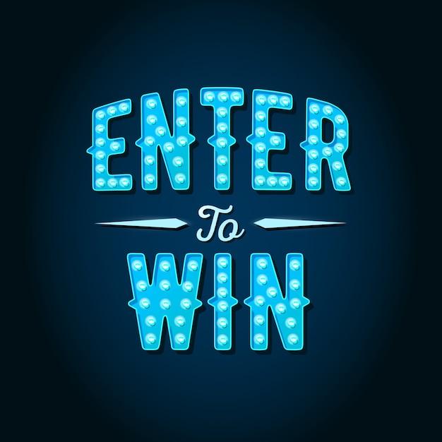 Enter om letters te winnen Premium Vector