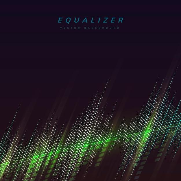 Equalizer verlicht achtergrond Gratis Vector