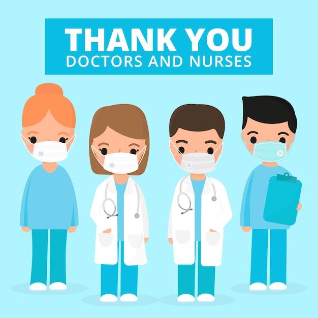 Erkenning van beroepsbeoefenaren in de gezondheidszorg Gratis Vector