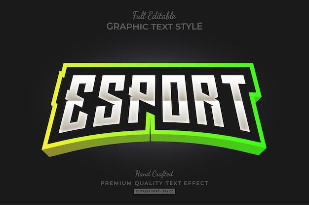 Esport gradient bewerkbare tekststijl effect premium Premium Vector