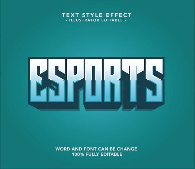 Esport-lettertypetekst Premium Vector