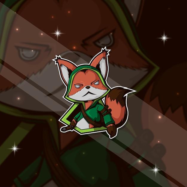 Esport logo gamer fox Premium Vector