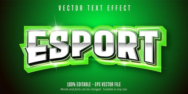 Esport-tekst, bewerkbaar teksteffect in sportstijl Premium Vector