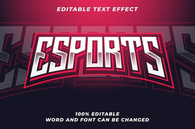 Esport tekststijl effect Premium Vector