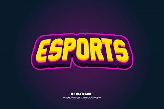 Esports tekststijl Premium Vector