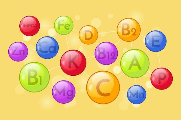 Essentieel vitamine- en mineralencomplex Gratis Vector