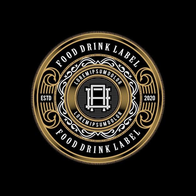 Eten en drinken logo-ontwerp voor product en restaurant Premium Vector
