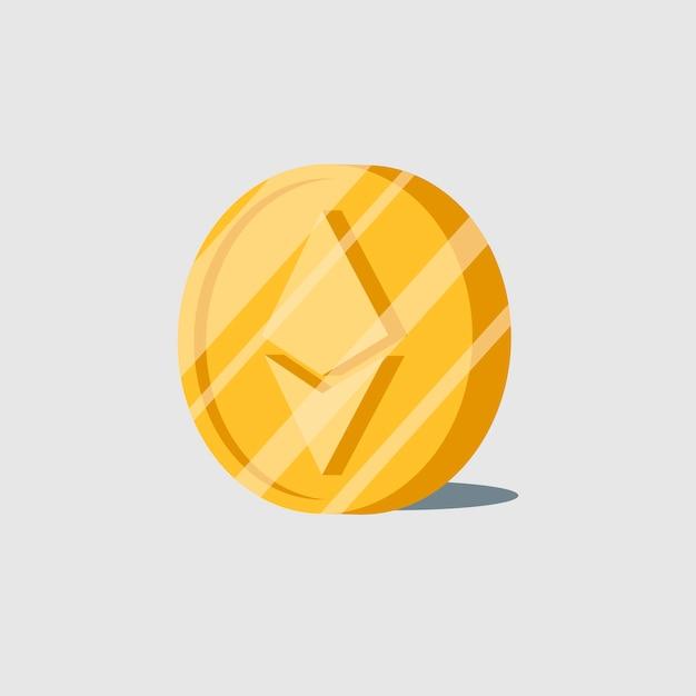 Ethereum cryptocurrency elektronische contant geld symbool vector Gratis Vector