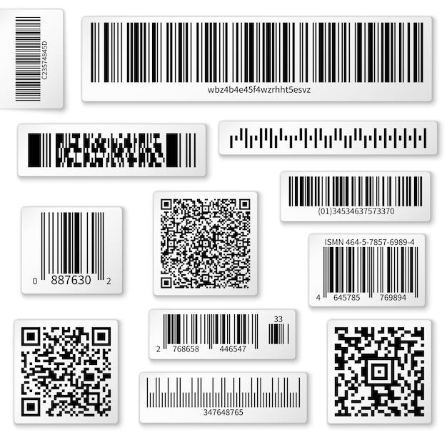 Etiketten van verpakkingen Premium Vector