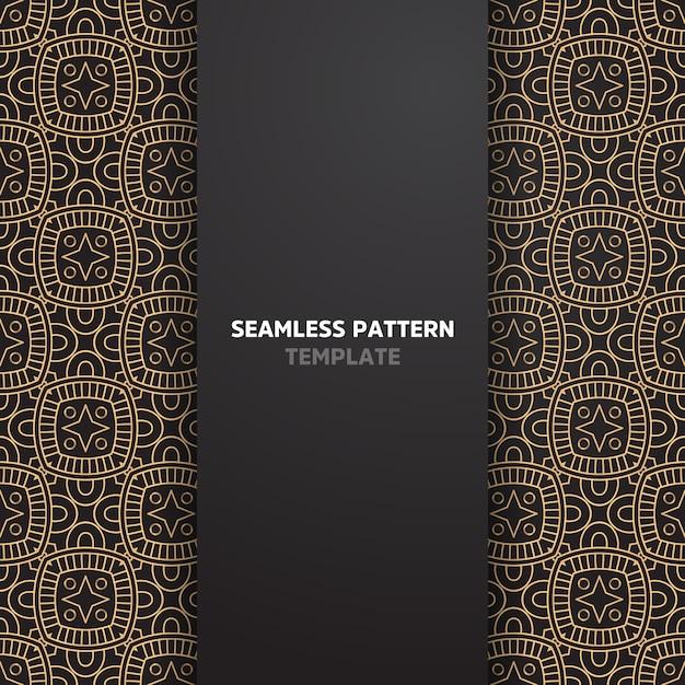 Etnisch motief naadloos patroon Premium Vector