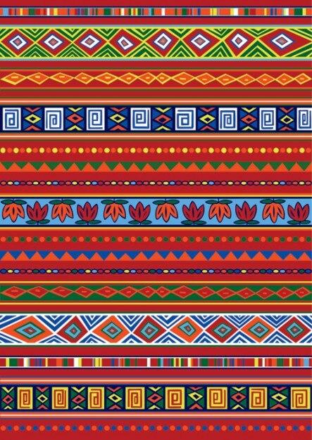 Etnische Afrikaanse patroon-1 Gratis Vector