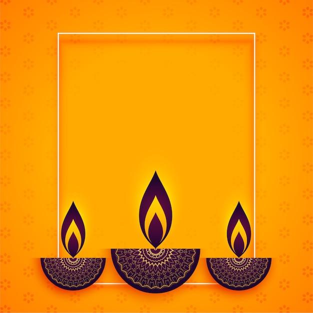 Etnische stijl diya voor diwali festival Gratis Vector