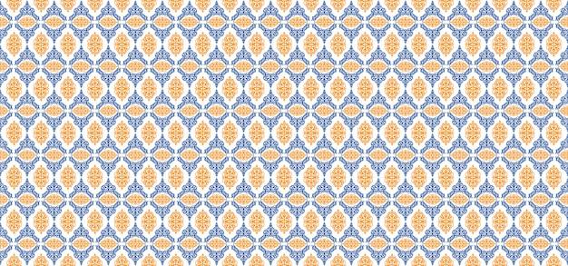 Europese patroon sier bloemenachtergrond Premium Vector
