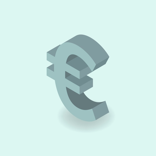 Eurosymbool Gratis Vector