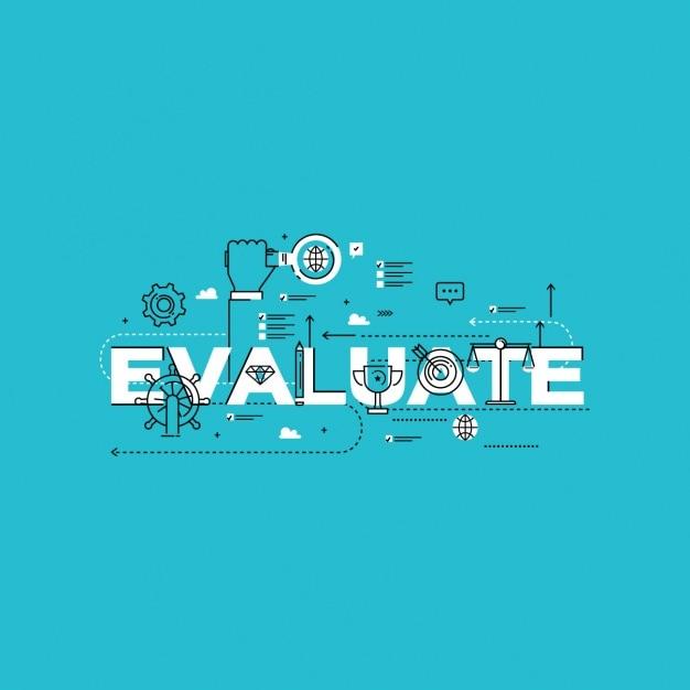 Evaluatie werk ontwerp Gratis Vector