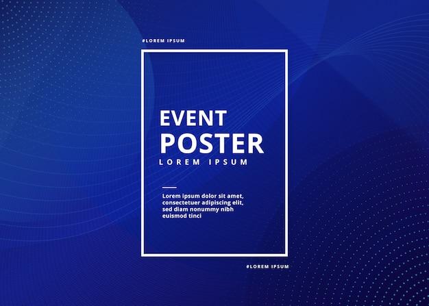 Evenement poster abstract Gratis Vector