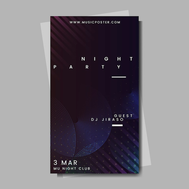 Evenement poster lay-out Gratis Vector