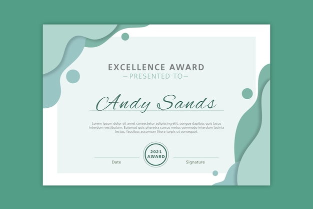 Excellentie award diploma sjabloon Gratis Vector