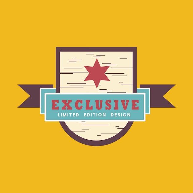 Exclusieve badge-vector in beperkte oplage Gratis Vector