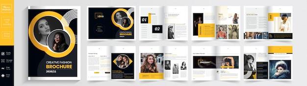 Exclusieve mode brochure template: Premium Vector