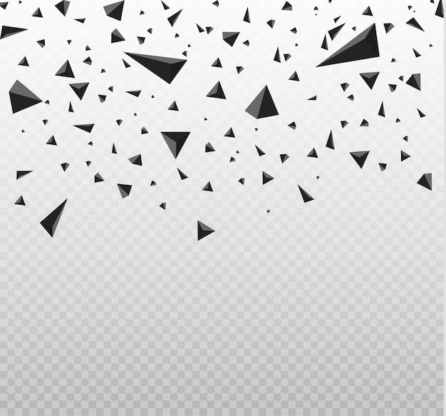 Explosiewolk van zwarte stukken op witte illustratie als achtergrond Premium Vector