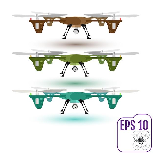 Externe antenne-drone met een camera Premium Vector